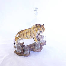 Підставка-бар для чарок Тигр