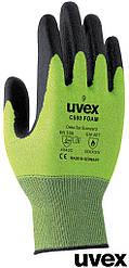 Перчатки безопасные при контакте с горячими объектами рабочие Uvex Германия RUVEX-C500FOAM ZB