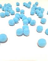 Помпоны 20 мм россыпью - цвет голубой