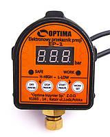Реле давления с защитой сухого хода Optima EP-1 (Польша) автоматика для насос