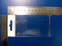 Пакет с еврослотом 6,5х6cм +4см к/л (40мкм)