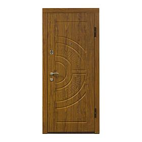 Двери входные металические Министерство дверей ПО-08 дуб золотой мдф+мдф