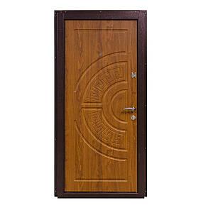 Двери входные металические Министерство дверей ПО-08 дуб золотой мдф+мдф, фото 2