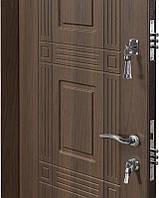 Двери входные металические Министерство дверей 860*2050правая  ПО-02 орех белоцерковский мдф+мдф