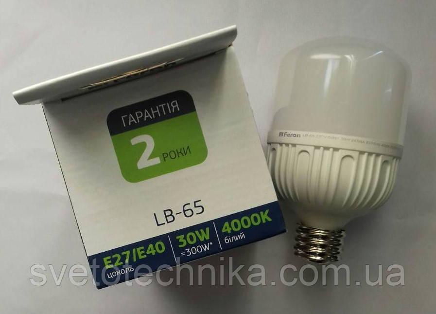 Светодиодная лампа Feron LB-65 E27 30W 4000K