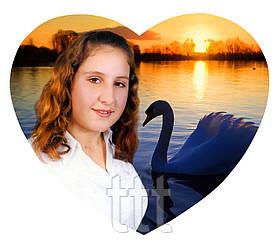 Фотокерамика на памятник Сердце 37х29 см