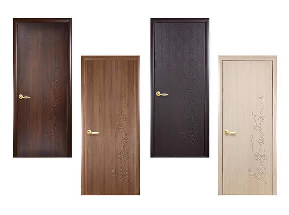 Двери межкомнатные Новый стиль Дверное полотно Сакура размер 300,400,500,600,700,800,900мм, фото 2