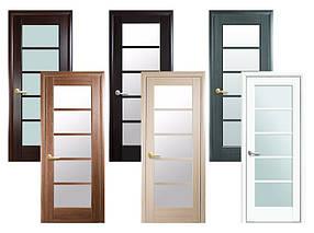 Двери межкомнатные Новый стиль Дверное полотно Муза сатин