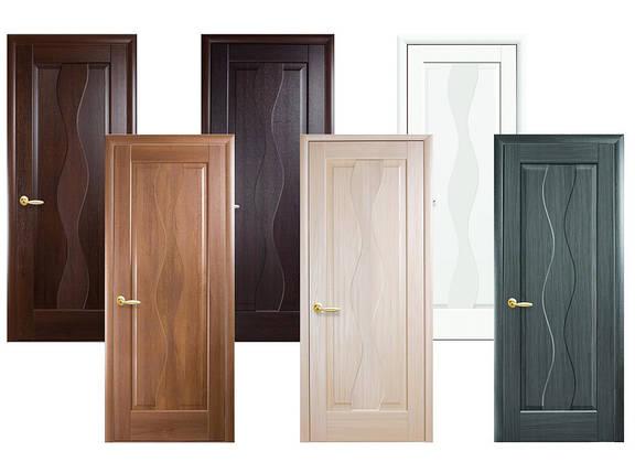 Двери межкомнатные Новый стиль Дверное полотно Волна глухое, фото 2