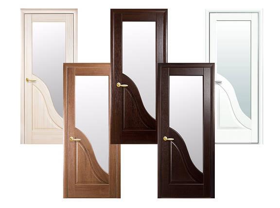Двери межкомнатные Новый стиль Дверное полотно Амата стекло сатин, фото 2