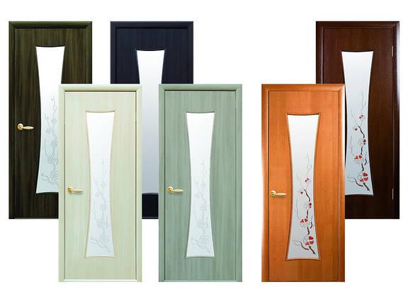 Двери межкомнатные Новый стиль Дверное полотно Часы с рисунком, фото 2