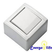 """Кнопка звонка белая """"Лайт"""" FAR / 27030067 / F67"""