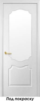 Двери межкомнатные Новый стиль Дверное полотно Вензель сатин под покраску, фото 2