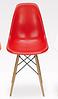 Стілець візажиста на дерев'яних ніжках, стілець для бару червоний, стілець для адміністратора(Тауер Вуд червоний), фото 2