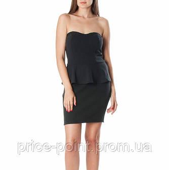 Маленькое черное платье-футляр с баской CACHE CACHE, р. 36