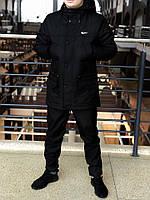 Мужская весенняя демисезонная черная парка (куртка) Nike CUPE, есть ОПТ