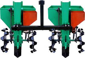 Картофелесажалка двухрядная для минитрактора(3 точки) 90 л с бункером NEW(новые грунтозацепы), фото 2