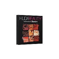 Палетка теней Huda Beauty (Худа Бьюти) Warm Brown Obsession, фото 1