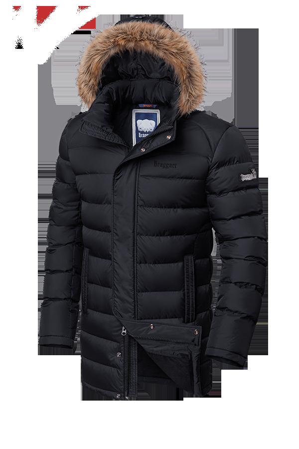 Мужская удлиненная зимняя куртка Braggart (р. 46-56) арт. 2372