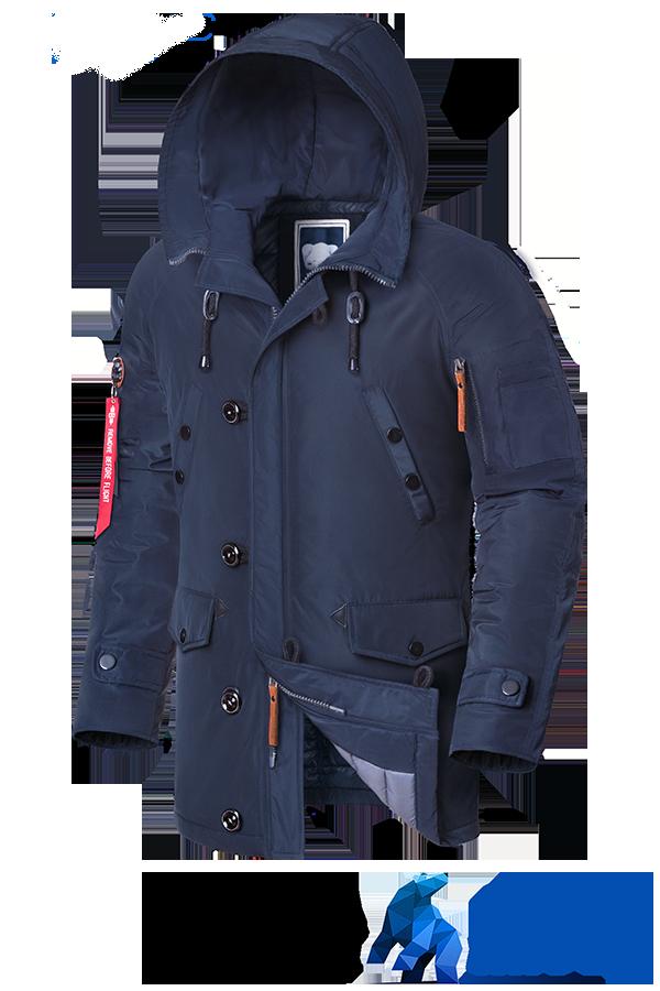 Мужская синяя зимняя куртка Braggart Arctic (р. 46-54) арт. 2473 С