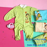 Человечек х/б на кнопках под накат одежда для новорожденного р.18,20,22,24,26