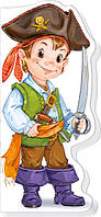 Пираты, рыцари, ковбои (рус) Книжка-картонка из серии Мальчишкам и девчонкам Ранок