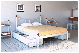 Півтораспальне ліжко Каліпсо 2 Метал Дизайн