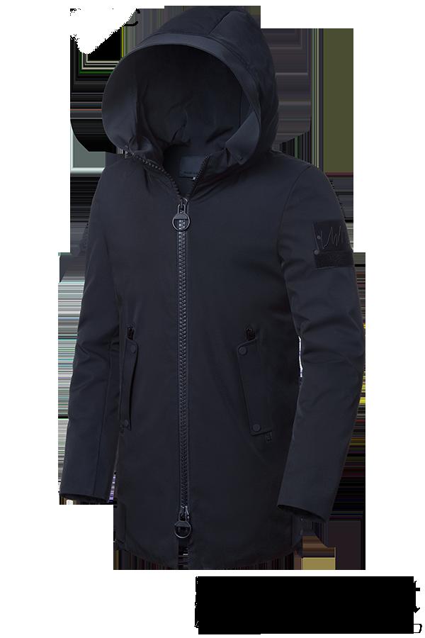 f67de3308df Мужская удлиненная зимняя куртка с капюшоном (р. 48-62) арт. 9015D ...