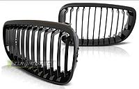 Решетка радиатора на BMW E87/E81, хэтчбек, 3 и 5 дверей, черный глянец