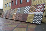 Плитка тротуарная вибролитая серая 250х250х60мм (цвет в ассортименте)