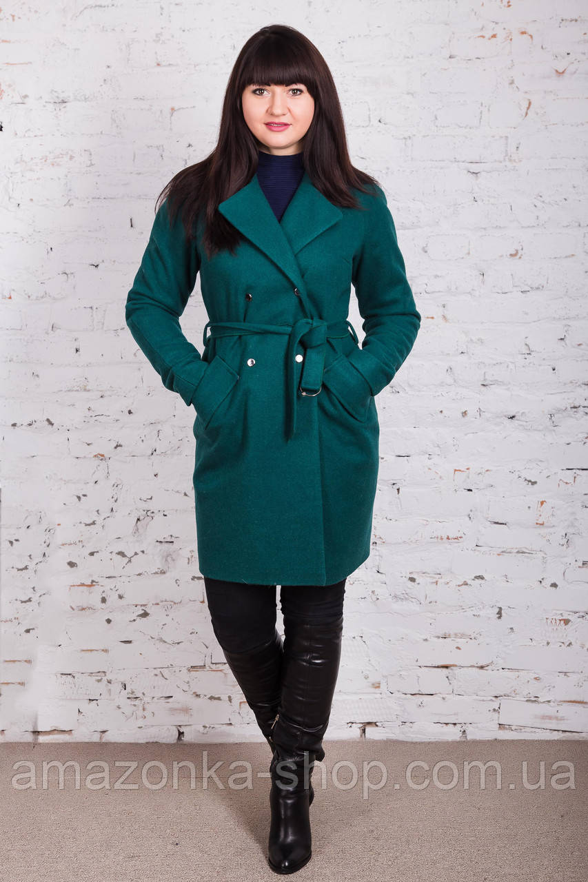 Стильное женское пальто с ремешком сезона весна 2018 AMAZONKA - (рр-79)