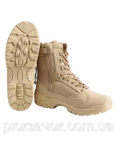 Ботинки (берцы) универсальные  Tactical boots coyote YKK zip р.40-47