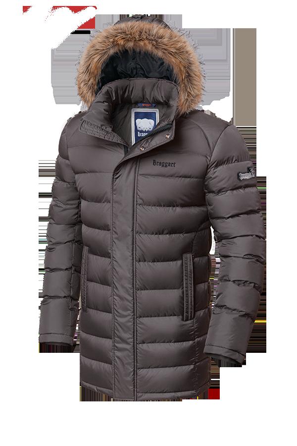 Мужская удлиненная зимняя куртка Braggart (р. 46-56) арт. 3172 сафари