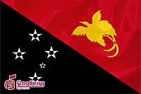 Флажок Папуа - Новая Гвинея  13,5*25 см., плотный атлас