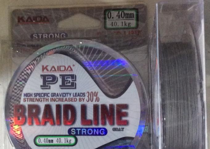Шнур рыболовный Kaida PE Braid line 100 м серый