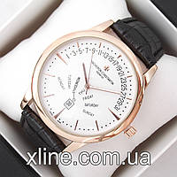 Мужские наручные часы Vacheron Constantin 4185-2 на кожаном ремешке