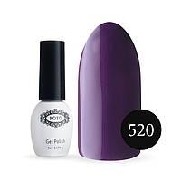 Однофазный гель-лак KOTO №520 (очень темный фиолетовый, эмаль), 5 мл