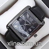 Мужские наручные часы Cartier B298 на кожаном ремешке