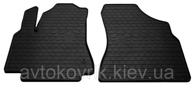Резиновые передние коврики в салон Citroen Berlingo II 2008-2018 (STINGRAY)