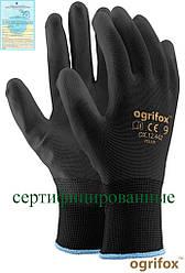 Перчатки защитные, изготовленные из полиэстера, покрытые полиуретаном OX-POLIUR BB