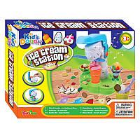 Набор пластилина производство мороженного, пластилин 4 цвета, станок для мороженного, формы, Kids Dough