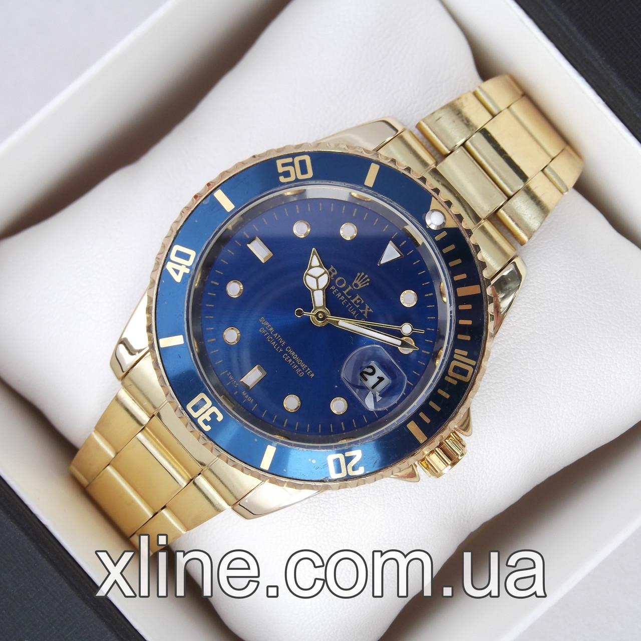 Унисекс наручные часы Rolex Submariner Quarts 2128 на металлическом браслете