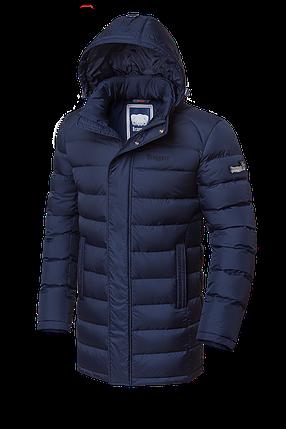 Удлиненная темно-синяя мужская зимняя куртка Braggart (р. 46-56) арт. 1572 темно-синий, фото 2