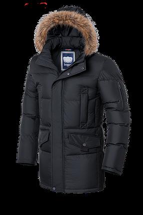 Мужская теплая зимняя куртка с мехом Braggart (р. 46-56) арт. 1005 графит, фото 2
