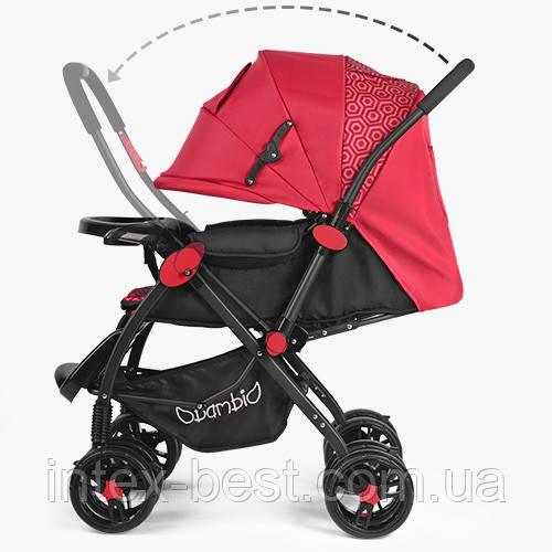 Прогулочная коляска Bambi (M 3655-3) Красная