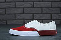"Кеды Vans Authentic ""White/Red"""