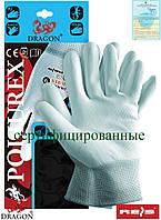 Защитные рукавицы изготовленные из нейлона, с покрытием POLIUREX JNW