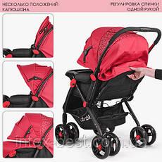 Прогулочная коляска Bambi (M 3655-3) Красная, фото 3