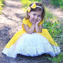 Нарядное детское платье - Хлопок + Фатин, фото 2