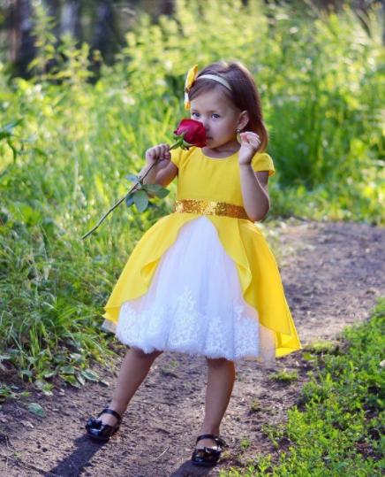 Нарядное детское платье - Хлопок + Фатин
